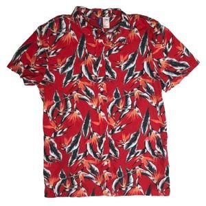 Divided red tropical shirt